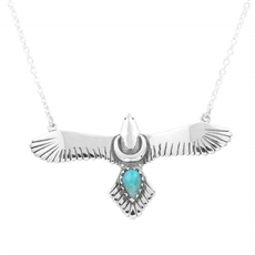 Moons Eagle Necklace Turquoise-jewellery-The Vault
