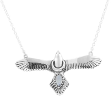 Moons Eagle Necklace Rainbow Moonstone-brands-The Vault