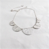 Scalloped Leaf Necklace Silver-jewellery-The Vault