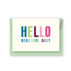 Hello Beautiful Baby Card-all-occasions-The Vault