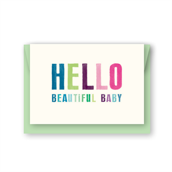 Hello Beautiful Baby Card