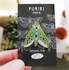 Puriri Moth Enamel Pin-artists-and-brands-The Vault