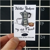 Coffee Pot Enamel Pin-jewellery-The Vault