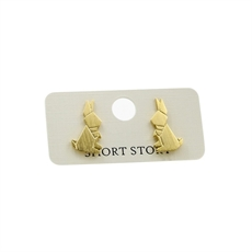 Funky Play Earrings Mr Rabbit Gold-jewellery-The Vault