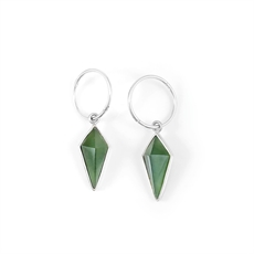 Pinnacle Earrings on Hoop Pounamu-new-in-The Vault