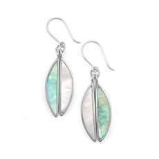 Antipodes Earrings Paua & MOP Hooks-jewellery-The Vault