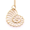 Nautilus Necklace 22k Gold Plate-jewellery-The Vault