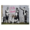 Banksy Print A4 Old School-home-The Vault
