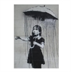 Banksy Print A4 Girl with Umbrella-home-The Vault