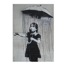 Banksy Print A4 Girl with Umbrella