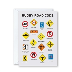 Rugby Road Code Card-cards-The Vault