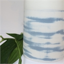 Medium Vase Denim Shibori