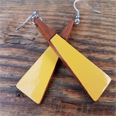 Long Drop Triangle Earrings Mustard-new-in-The Vault