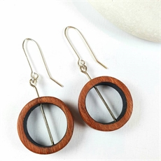 Jarrah Hoop Earrings Black-jewellery-The Vault