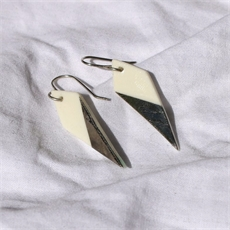 Porcelain Kereru Feather Earrings Point-new-in-The Vault