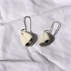 Porcelain Kereru Feather Earrings Round-new-in-The Vault