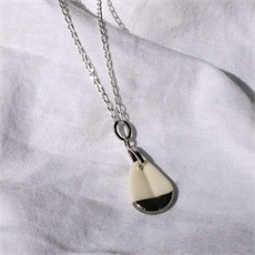 Porcelain Kereru Belly Feather Pendant-new-in-The Vault