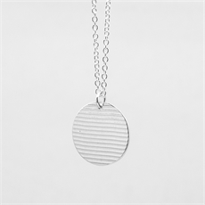 Ripple Necklace Silver-jewellery-The Vault