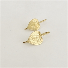 Kawakawa Drop Earrings Gold Plate-jewellery-The Vault
