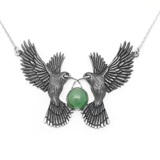 Double Huia Pendant-jewellery-The Vault