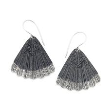 Huia Fan Earrings-jewellery-The Vault