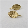 Single Leaf Drop Earrings Gold Plate-jewellery-The Vault