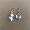 Silver Mini Leaf Earrings-jewellery-The Vault