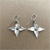 Silver Pacific Flower Earrings-jewellery-The Vault