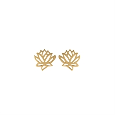 Emergence Gold Plate Lotus Studs-new-in-The Vault