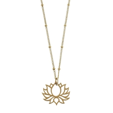 Emergence Gold Plate Lotus Necklace-new-in-The Vault