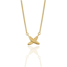 Feather Kisses Petite 9ct Gold Pendant-jewellery-The Vault