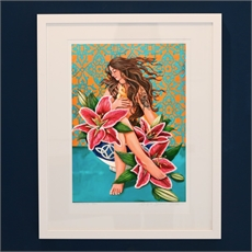 Nurture You A3 Framed Print-artists-and-brands-The Vault
