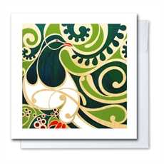 Kereru Card Shane Hansen-artists-and-brands-The Vault