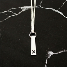 Crossing Pendant Neckpiece Silver-new-in-The Vault