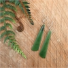 Pounamu Point Earrings Stg Silver Small-jewellery-The Vault