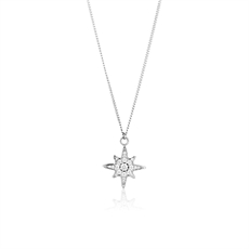 Starburst Pendant Silver -jewellery-The Vault