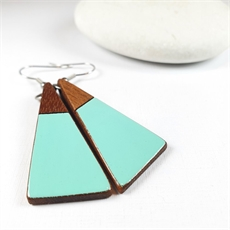 Short Drop Triangle Earrings Amalfi Blue-jewellery-The Vault
