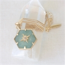 Gold Guiding Forces Necklace Aventurine