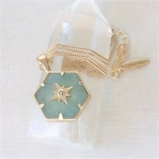 Gold Guiding Forces Necklace Aventurine-jewellery-The Vault