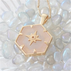 Gold Guiding Forces Necklace Rose Quartz-jewellery-The Vault