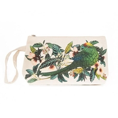 Flox Cotton Pouch w Wristlet Kakariki-for-her-The Vault
