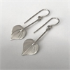 Small Kawakawa Long Drop Earrings Silver-new-in-The Vault