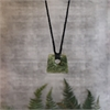 Medium Square Pounamu Black Cord-new-in-The Vault
