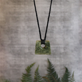 Medium Square Pounamu Black Cord