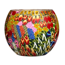 Glass Tealight Holder Flower Garden-home-The Vault