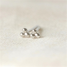 Tiny Trio Studs Silver-jewellery-The Vault