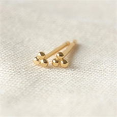 Tiny Trio Studs Gold Plate-jewellery-The Vault