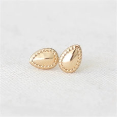 Gem Studs Gold Plate-jewellery-The Vault
