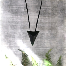Pounamu Contemporary Shark Tooth-jewellery-The Vault