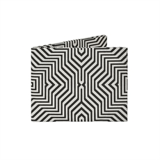 Mighty Wallet Geometric Grid-new-in-The Vault
